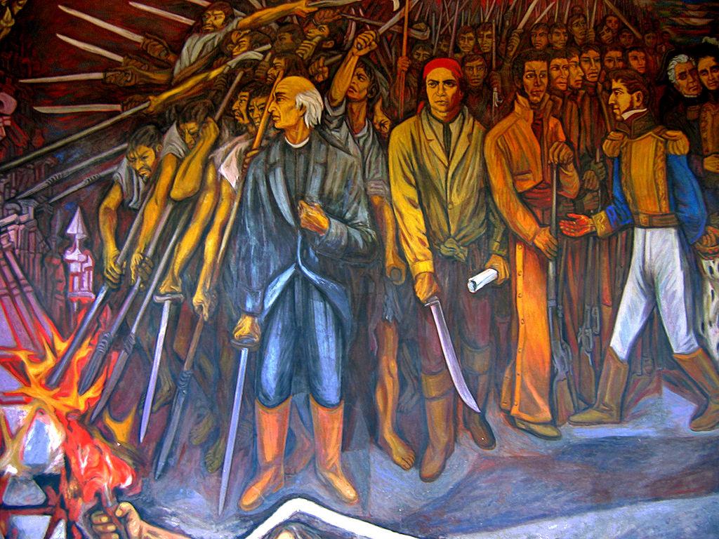 Mural México independiente obra del artista Alfredo Zalce ubicado en el Palacio de Gobierno de Michoacán, Morelia.