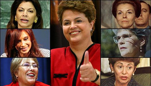Liderazgo femenino en algunos países de América Latina.